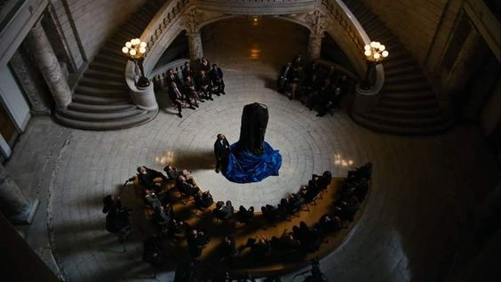 The unveiling scene in question from The Dark Knight Rises.