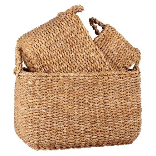 Woven Plant Fibre Baskets X3 Maisons Du Monde Basket Maisons Du Monde Plant Fibres