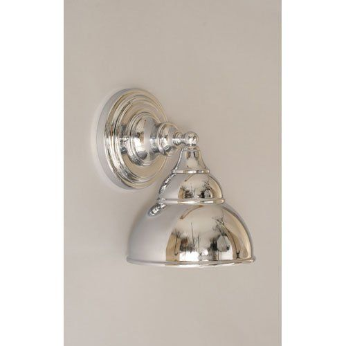 1 Light Wall Sconce with Double Bubble Metal Shade Finish: Chrome - Amazon.com