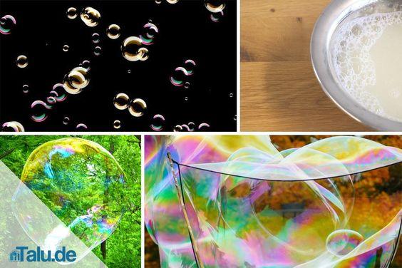 Seifenblasen selber machen – Rezept für Pustefix