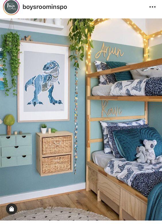 boys modern dinosaur bedroom  toddler rooms kids room