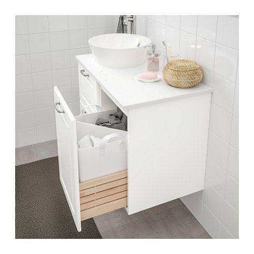 Fonkelnieuw GODMORGON Kast voor wasgoed - Kasjön wit 40x47x58 cm | Ikea, Kast TE-37