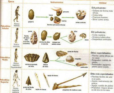 Las herramientas del paleol tico eran principalmente de - Herramientas para piedra ...