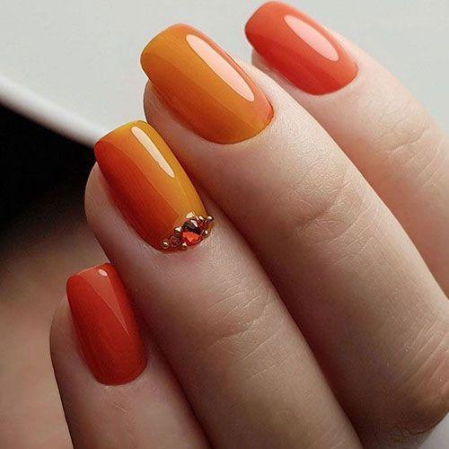 45 Best Fall Nail Polish Colors Cute Trending Ideas For 2020 Orange Fall N 45 Best Fall Nail Polish Colors Cute In 2020 Nagellackfarben Nails Herbst Nagel
