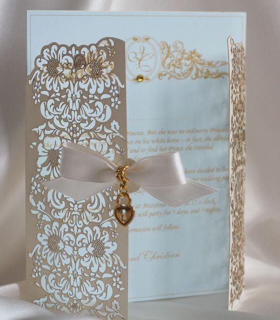 laser cut save the date | Laser cut invitation | Wedding - Invitations / Save the date