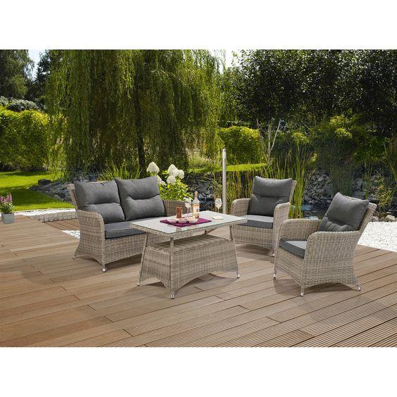 Coffee Gruppe Springdale 4 Teilig Haus Deko Lounge Gartenmobel Wohnzimmer Gemutlich