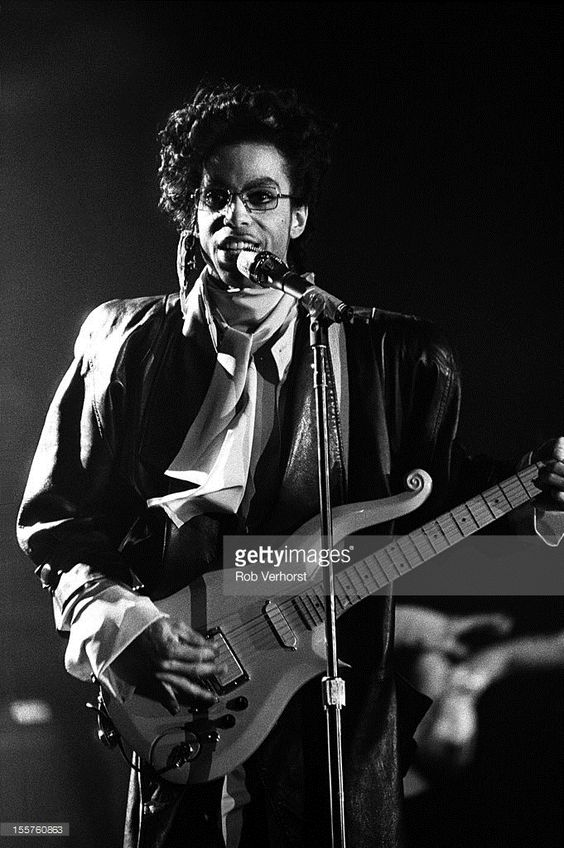 Prince performs on stage on the Sign of the Times Tour at Isstadion, Stockholm, Sweden, 9th May 1987.: