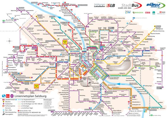 Salzburg Public Bus Routes Austria Things To Do Pinterest