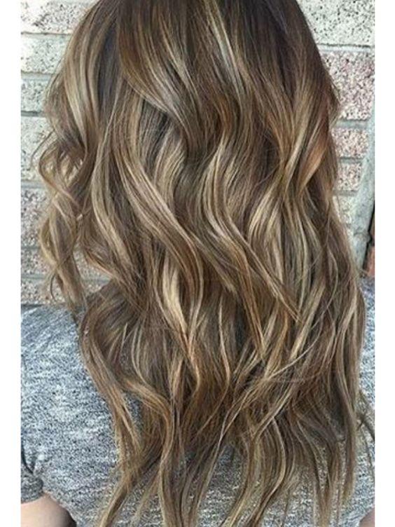 High and Low Lights on dark bronde hair