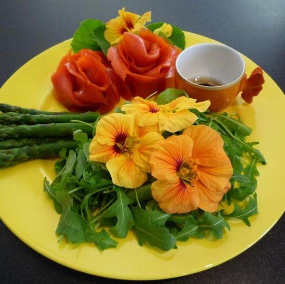 Quais são as flores comestíveis - Flor de nastúrcio