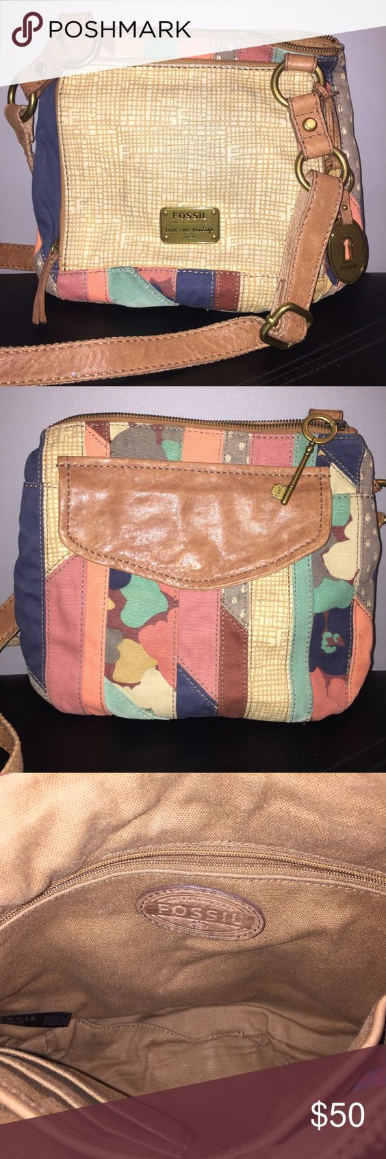 Fossil Long Live Vintage Crossbody Only used a couple of times // excellent condition! Fossil Bags Crossbody Bags