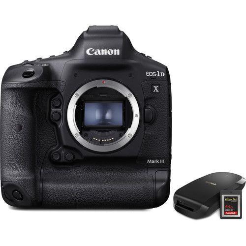 Canon Eos 1d X Mark Iii Dslr Camera With Cfexpress Card And Reader Bundle Dslr Price Dslr Camera Dslr