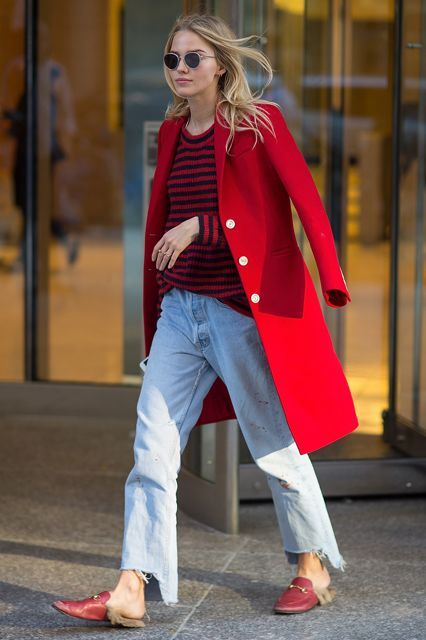 30  Outfits We Spotted Outside The Victoria's Secret Casting Call #refinery29 http://www.refinery29.com/victorias-secret-angel-model-off-duty-street-style#slide-37 Sasha LussHey, Luss — got a case of the mean reds?.