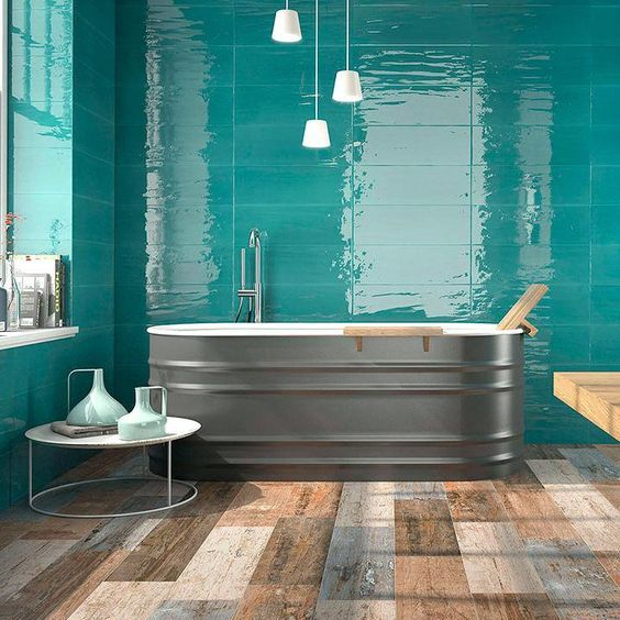 Bathroom Tile Ideas Will Amp Up Your Small Bathroom With A Touch Of Creativity And Color Modern Bathroom Tile Tile Bathroom Bathroom Wall Tile Aqua Bathroom