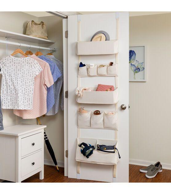 Clothes Socks Storage Box Hanging Over Door Bag Organizer Wardrobe Cube Closet