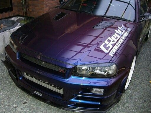 Nissan Skyline R34 Gtr Midnight Purple Iii Cars Pinterest