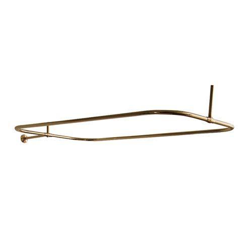 Polished Brass Rectangular Shower Rod 54 X 24 Inch Shower Rod Polished Brass Bath Accessories