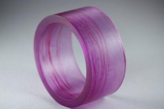 Resin Bangle Bracelet in Magenta by Beadevolution on Etsy, $48.00