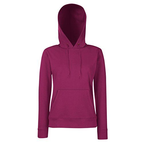 Double fabric hood with self-colored draw cord. Front pouch pocket. Waist and cuff rib in cotton/Lycra® for shape retention. Shaped side seams for a more fem...