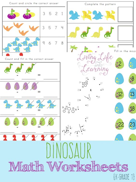 Number Names Worksheets dinosaur math worksheets : Pinterest • The world's catalog of ideas