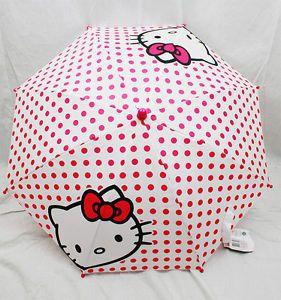 Umbrella - Hello Kitty - White w/ 3D Figurine Handle New Gift Toys hek1446