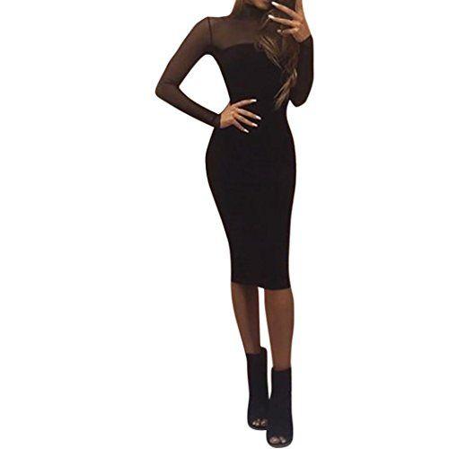 Amlaiworld Damen Sommer Fruhling Transparent Eng Kleid Elegant Geschaft Mode Flickwerk Abendkleider Gemutlich Abschlussball Kl Kleider Damen Kleider Abendkleid