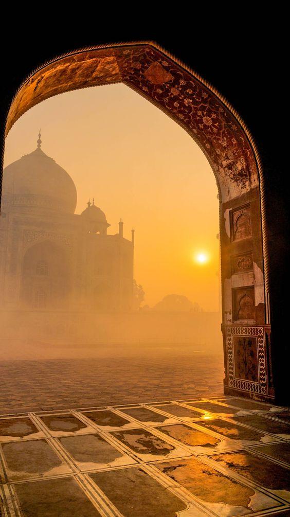 Taj sunrise, Agra, India             Plan your trip with Blissful Journey...shagun@blissfuljourney.in