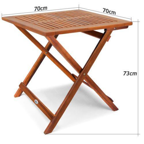 Klapptisch Akazie Beistelltisch Holztisch Gartentisch Campingtisch