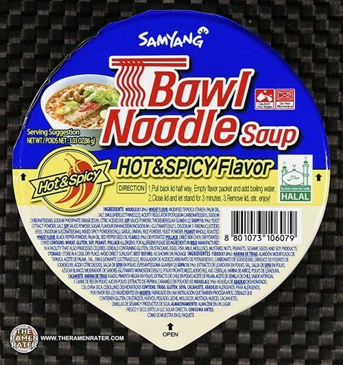 3067 Samyang Foods Bowl Noodle Soup Hot Spicy South Korea Hot Spicy Samyang Food Noodles