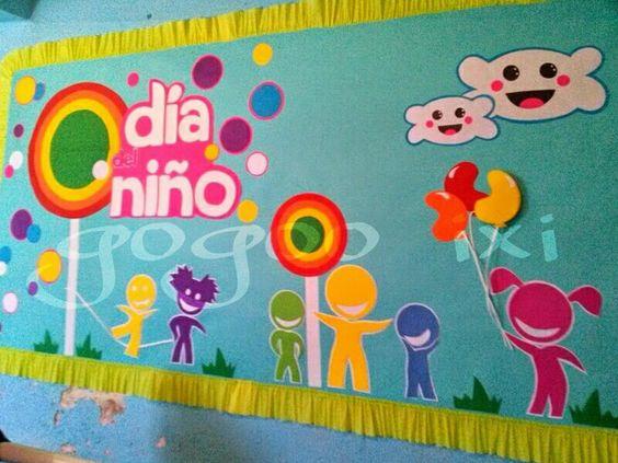 Periodico mural dia del ni o periodico mural pinterest for Cartel comedor infantil