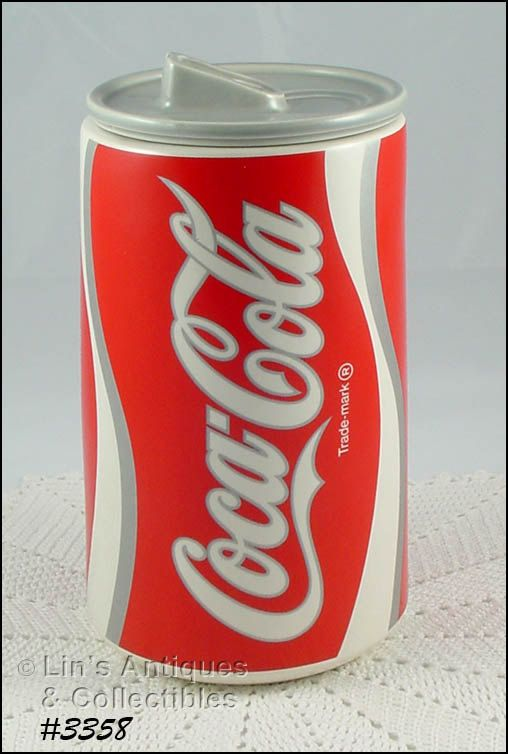 Mccoy Pottery Coke Can Cookie Jar With Original By Linsantiques
