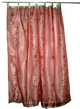 Amazon.com: Mogulinterior 2 Organza Sheer India Curtains Gold ...