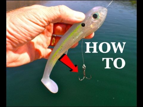 How To Rig A Line Through Swimbait How To Make Your Own Youtube Fishing Techniques Best Fishing Fishing Tips