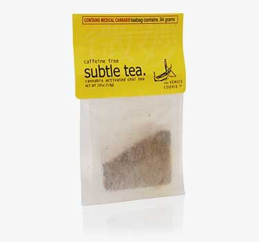 -Chai:This tea is also non-caffeinated. The bold flavors of spices like cardamom, ginger and cloves pair nicely with the cannabis. We recommend adding a splash of milk to this exotic brew.
