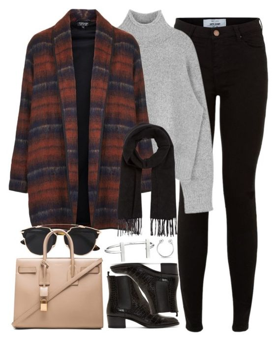 """Untitled #887"" by elly98 ❤ liked on Polyvore featuring New Look, Topshop, Yves Saint Laurent, Christian Dior, French Connection, Comptoir Des Cotonniers and Bling Jewelry"