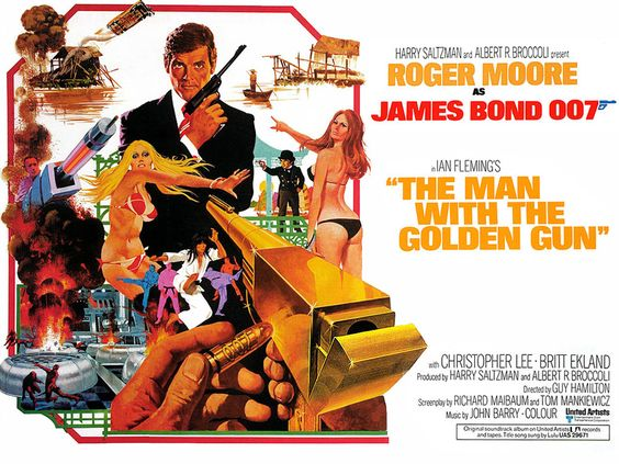 """""""The Man With The Golden Gun"""" (1974)   50 Years Of James Bond In 24 Posters"""