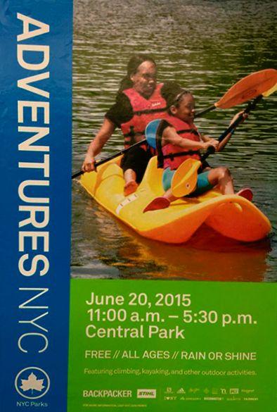 Te Gusta la Aventura? #gratis #parquecentral #kayaking #sabado/  Gosta da Aventura? #grátis #parquecentral #kayaking #sabado/ Like Adventure? #free @centralparknyc #kayaking #nyc #summer Jun 20 11:30 - 5:30pm.