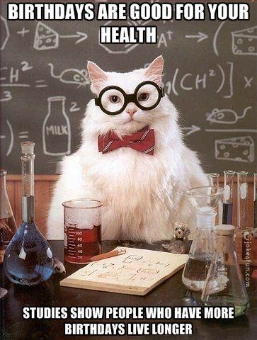 Joke4fun Memes Happy Birthday Chemistry Cat Chemistry Jokes Chemistry Humor