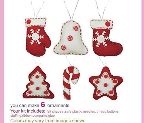 Christmas Ornament Diy Kit Felt Christmas Ornament Kids Diy Kit Sewing Craft Christmas Felt Christmas Ornaments Christmas Craft Kit Diy Christmas Ornaments
