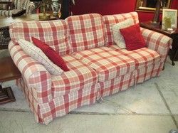 Nice Red Checked Sofas Www Energywarden Net