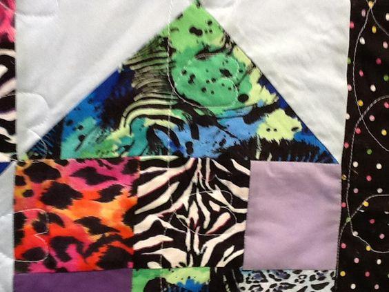 wild animal quilt: