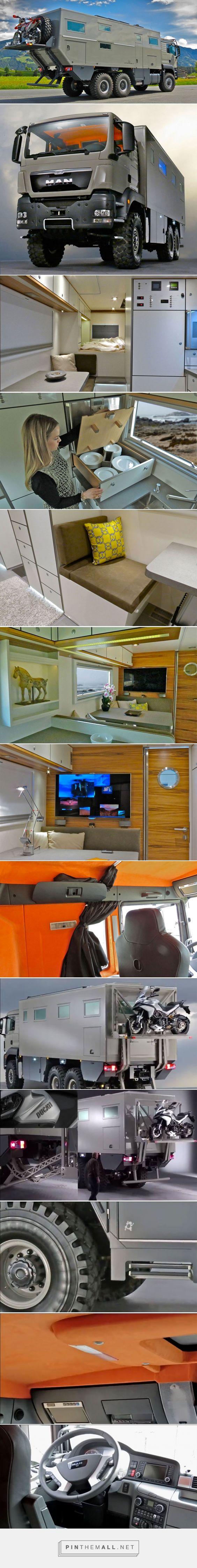 """Véritable habitation tout-terrain, ce """"camping-tank"""" peut vous emmener dans les lieux les plus hostiles   SooCurious - created via http://pinthemall.net"""