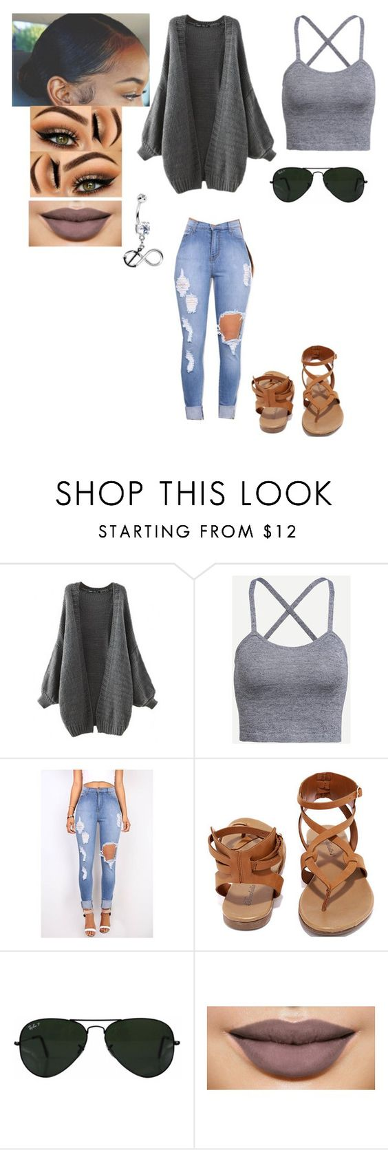 """Mall"" by yogurl-riyaa ❤ liked on Polyvore featuring Breckelle's and Ray-Ban"