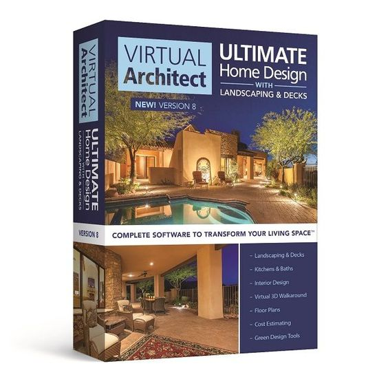 Virtual Architect Ultimate Home Design With Landscaping And Decks 8 0 Home Design Software Interior Design Virtual Interior Design Software