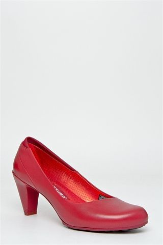 no nonsense red heels
