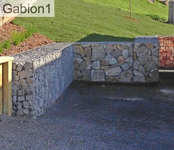 Retaining Walls And Gabion Retaining Wall On Pinterest