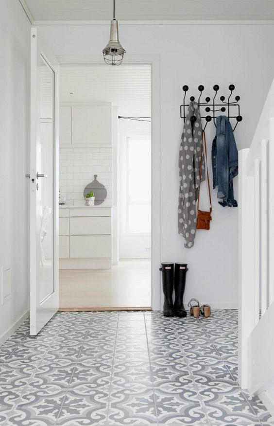 Tegelvloer gang patroon boerderij vloer pinterest met en vloeren - Tegelvloer patroon ...