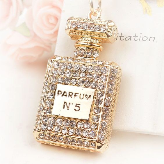 PERFUME BOTTLE CUTE KEYCHAINS @ Size: 5.5 x 2.5cm