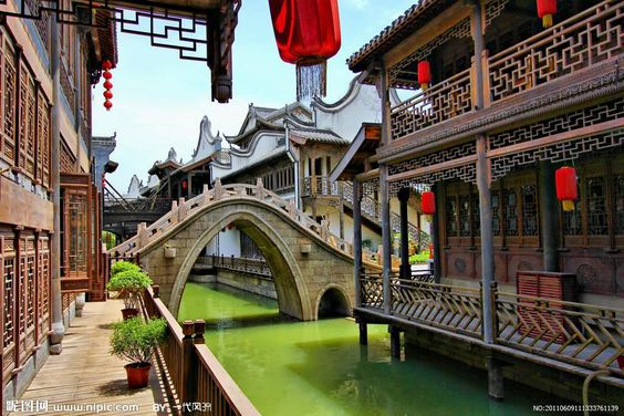 Tai er zhuang ancient town, located Zaozhuang city, Shandong province, China