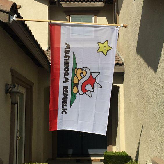 California Inspired Mushroom Republic Super Mario by OMGCoolStuff